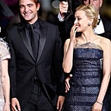 Costars Robert Pattinson and Sarah Gadon turned their Maps To The Stars premiere into a giggle fest.