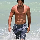 Joe Manganiello's sexy physique was on display in Miami back in June and landed him top honors in our 2012 Shirtless Bracket.