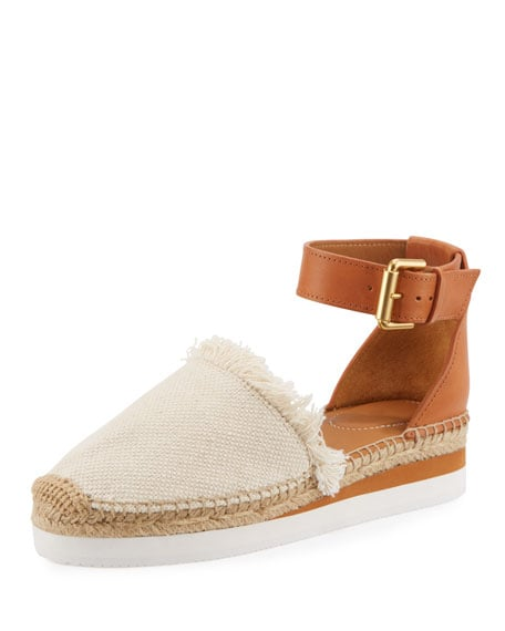 64f0a0d68e0 See by Chloe Glyn Canvas   Leather Espadrilles