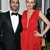 Diane Kruger Goes Bold in a Gorgeous Red YSL Gown For amfAR's Gala