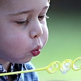 Prince George Blowing Bubbles