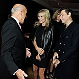 Kate Moss and Jamie Hince chatted with Christie's director of photographs, Philippe Garner.
