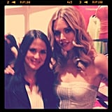 Associate Editor Hannah chatted it up with Doutzen Kroes at a Victoria's Secret event.