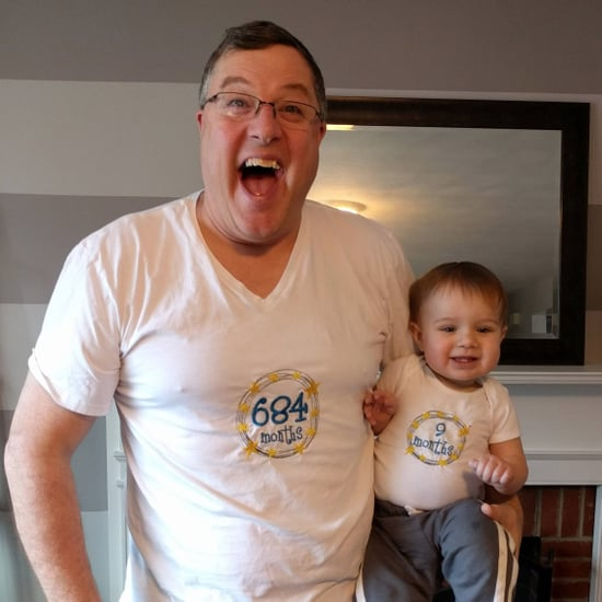 Grandpa Matches His Grandson's Month Shirt