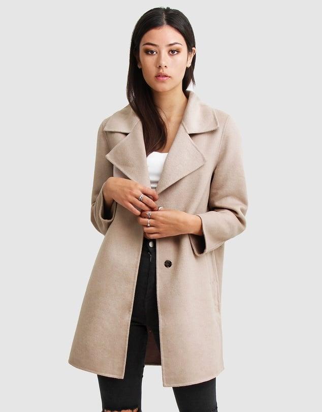 Belle & Bloom Ex-Boyfriend Wool Blend Oversized Coat ($187.45, originally $249.95)