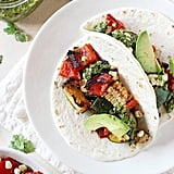 Vegetarian: Grilled Veggie Tacos With Chimichurri