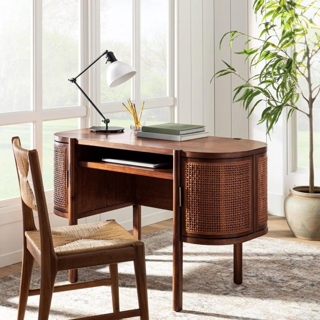 Threshold designed with Studio McGee Portola Hills Caned Desk
