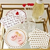 Gold Hearts Paper Cocktail Napkins