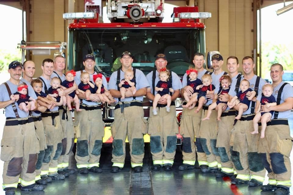 New Dad Firefighters Holding Babies