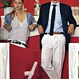 Pierre and Beatrice looked laid-back in June 2010 while watching an event in Monaco.