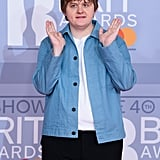 Lewis Capaldi at the 2020 BRIT Awards in London