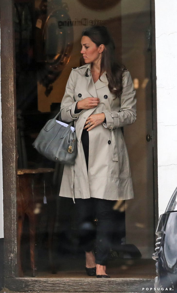 Kate Middleton Wore A Black Outfit And A Trench Coat