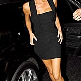 Victoria wearing a cleavage-baring LBD to David Beckham's birthday party in 2007.