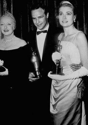 Bette Davis and Grace Kelly, 1956