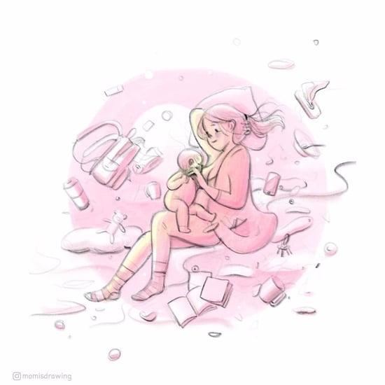 Mom Is Drawing Breastfeeding Illustrations