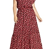 Gibson x City Safari Jaime Shrayber Smock Neck Maxi Dress