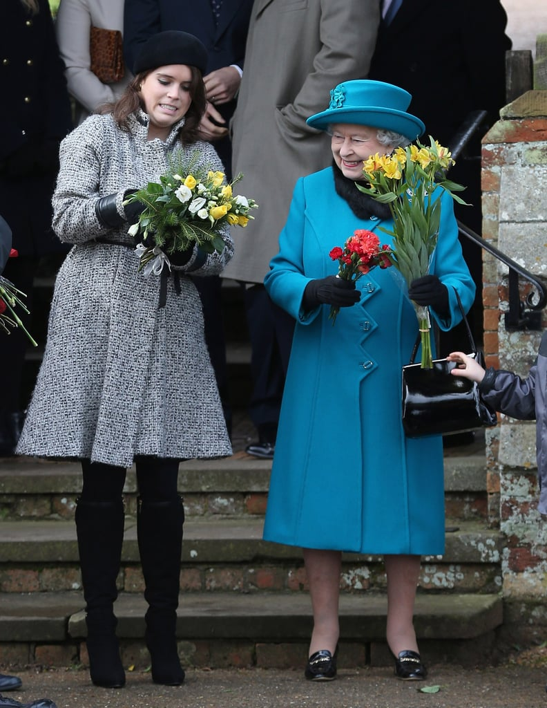 "Queen Elizabeth II may be the ruler of England, but it's clear that her family always comes first and foremost. The queen has a total of eight grandchildren, however, we especially love seeing her bond with Princess Eugenie. The two are frequently seen together at royal events and Eugenie often refers to her as ""Granny."" In fact, when Prince Andrew and Sarah Ferguson's youngest daughter got engaged to wine merchant Jack Brooksbank this past January, Elizabeth was one of the first people to find out. ""Granny actually knew right at the very beginning, she was one of the few people who knew,"" Eugenie previously told BBC's The One Show. ""She was very happy, as was my grandfather."" Aw!"