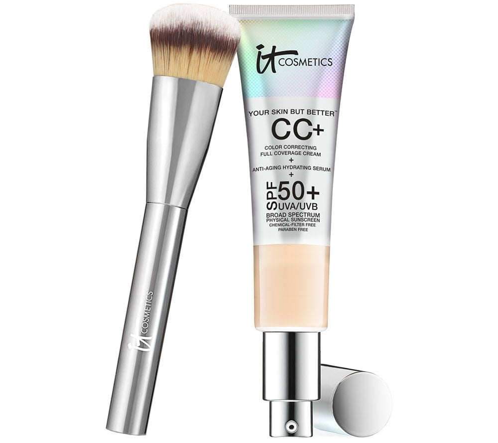 IT Cosmetics Full Coverage Physical SPF 50 CC Cream With Brush