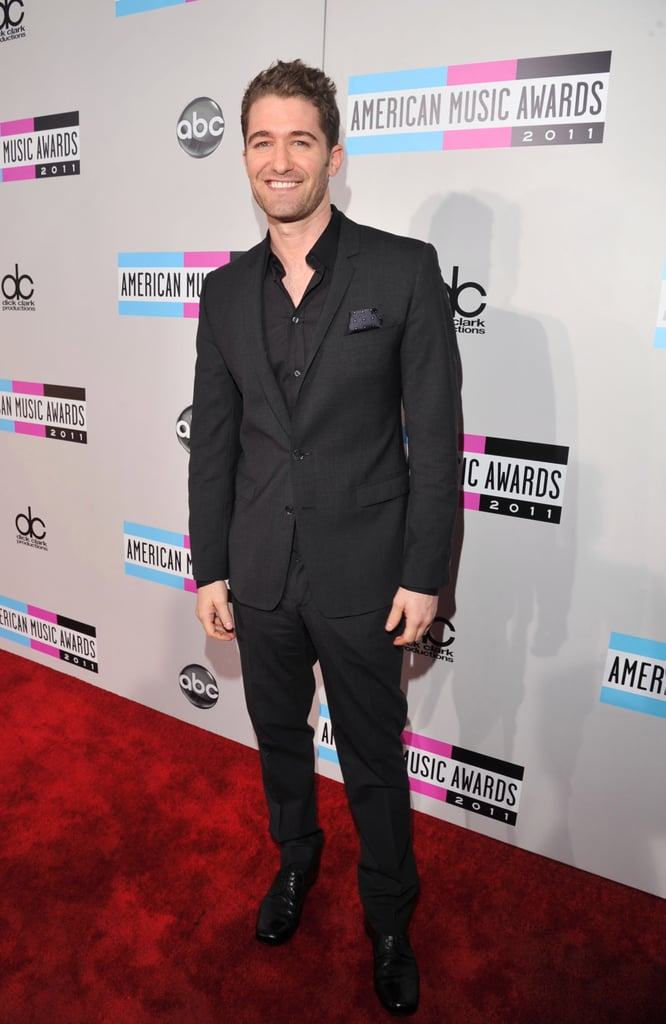 Matthew Morrison took a turn on the red carpet at LA's Nokia Theatre.