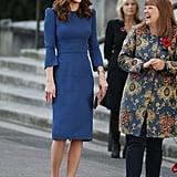 Kate Middleton Blue Jenny Packham Dress October 2018
