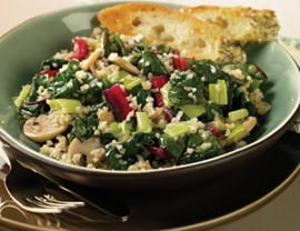 Fast & Easy Dinner: Bulgur With Leeks and Swiss Chard