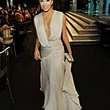 I love the way Eva Longoria's Georges Hobeika gown looks when she's holding the train.
