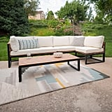 Natural 4-Piece Patio Set With Cushions