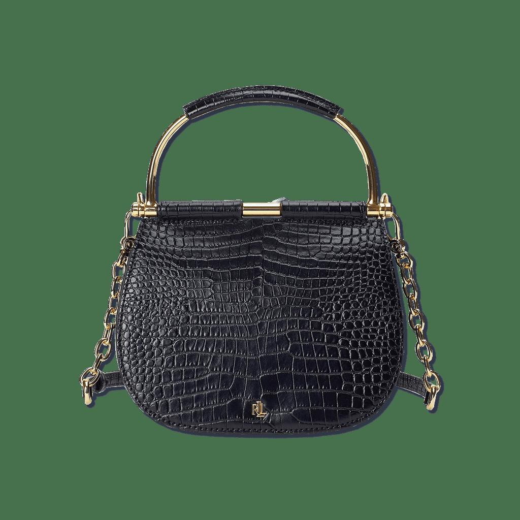 Lauren Ralph Lauren Mason Croc-Embossed Leather Satchel