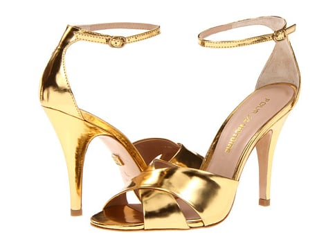 High-shine alert, these Pour La Victoire Gold Mirror sandals ($100, originally $250) will definitely get your feet noticed.