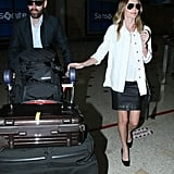 Kate Bosworth and Michael Polish arrived at Sydney Airport.