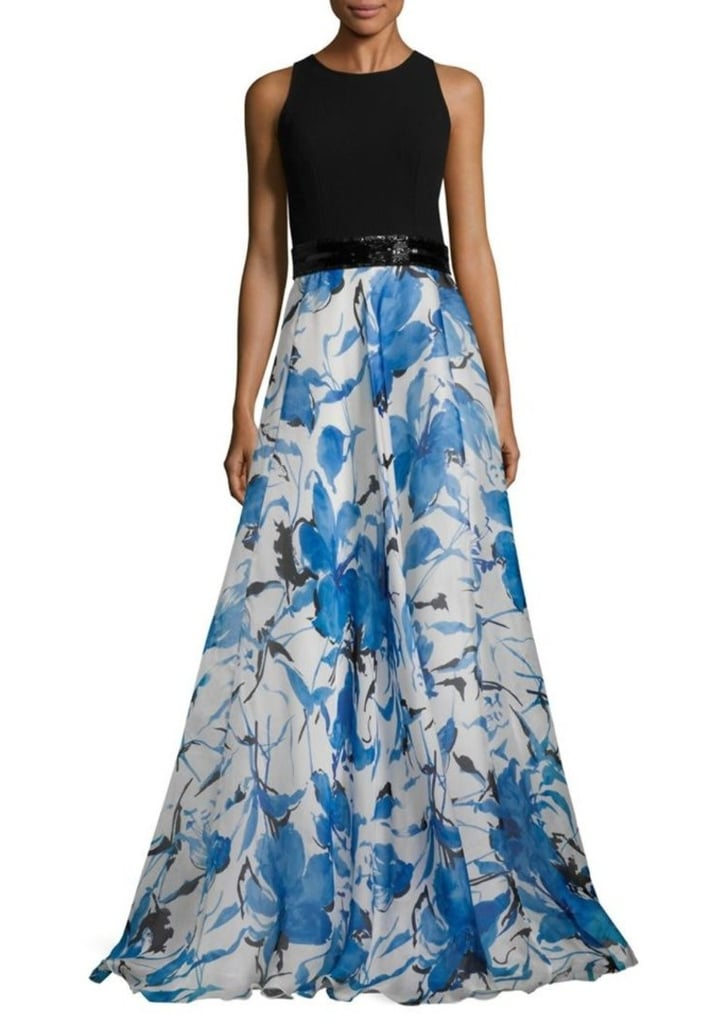 Carmen Marc Valvo Floral Organza Gown | Amal Clooney\'s Blue Dress at ...