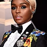 Janelle Monae Hair and Makeup Grammys 2018