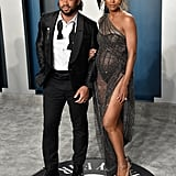 Ciara and Russell Wilson at the 2020 Vanity Fair Oscar Party