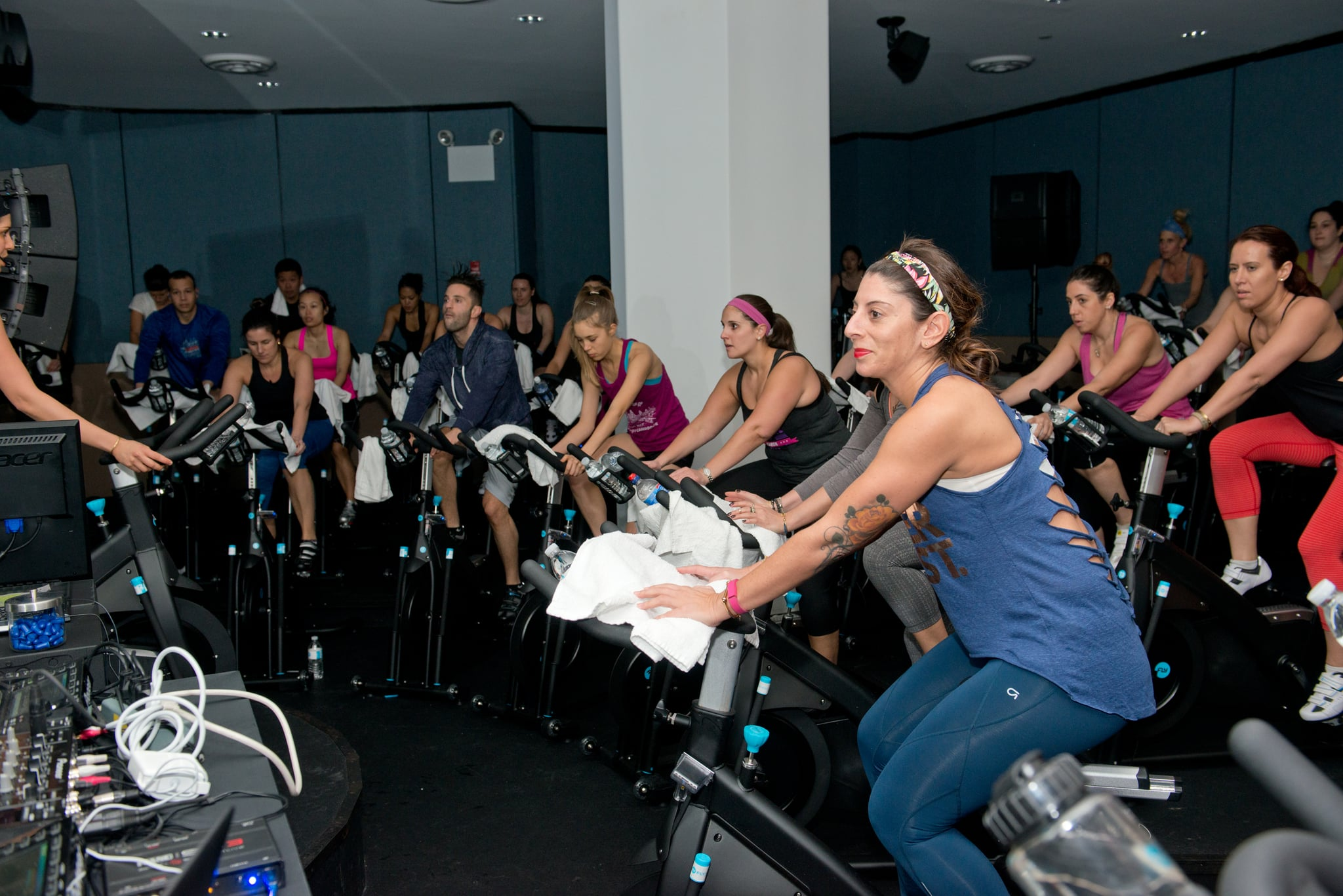NEW YORK, NY - FEBRUARY 14:  General view of atmosphere  at the Live DJ Ride featuring DJ Cassidy at Flywheel Sports on February 14, 2014 in New York City.  (Photo by Noam Galai/Getty Images)