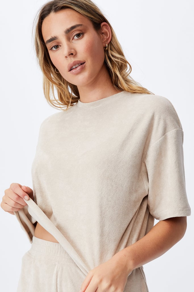 Cotton On Terry Towelling Boxy Tee