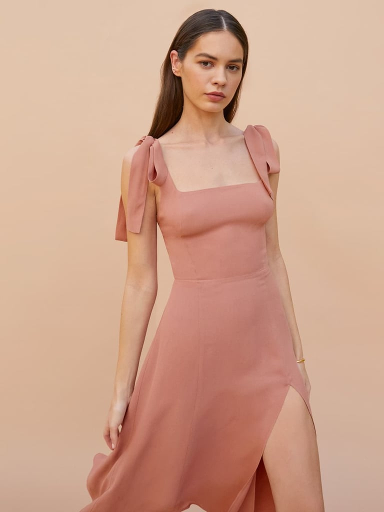Pink Bridesmaid Dress: Reformation Twilight Dress