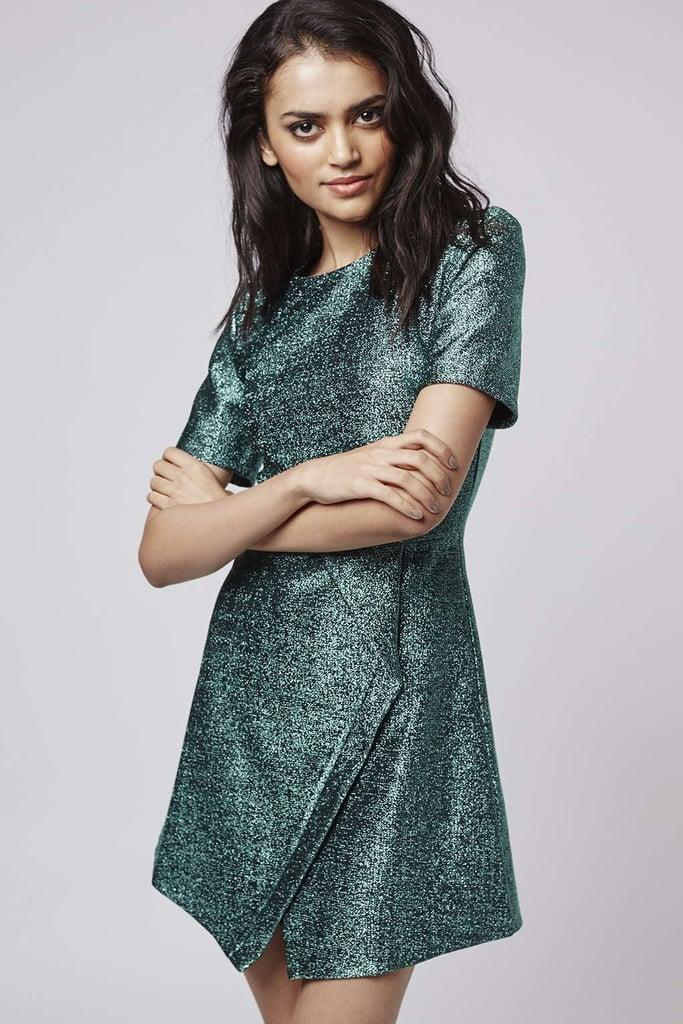 Topshop Tinsel Wrap A-Line Dress ($95)