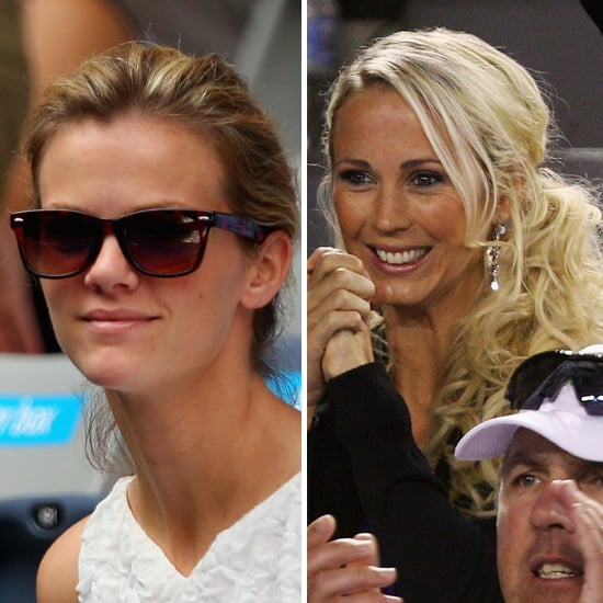 Brooklyn Decker and Bec Hewitt at the 2012 Australian Open