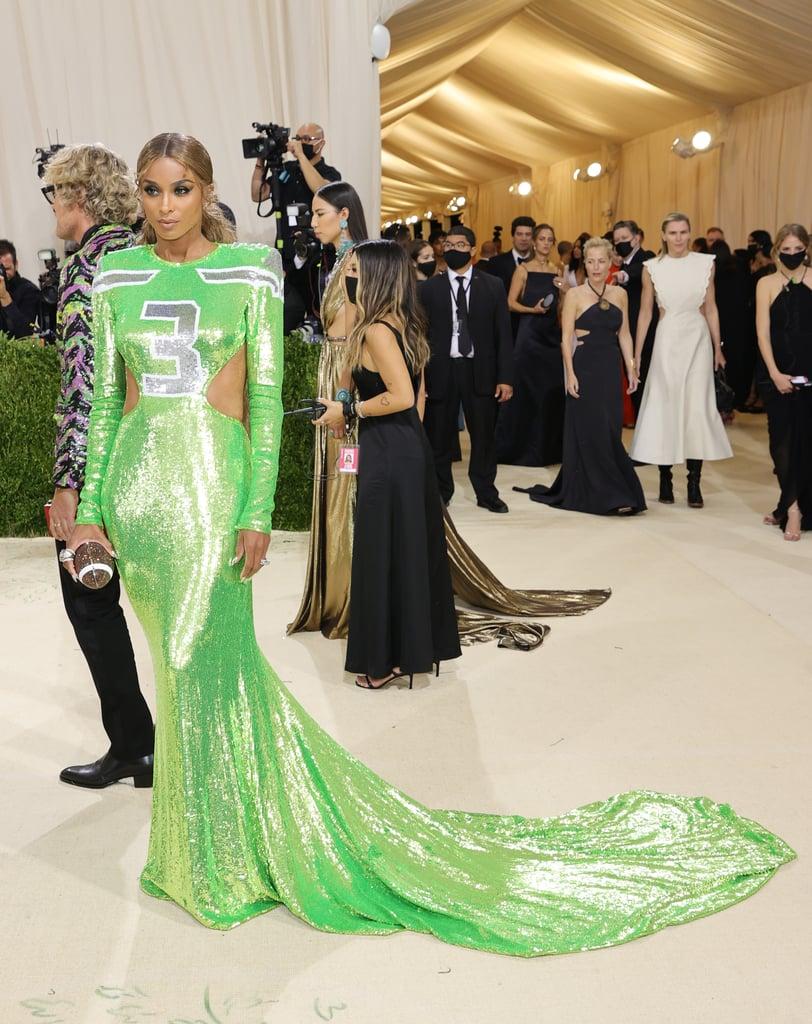 Ciara's Peter Dundas Jersey Dress at the 2021 Met Gala