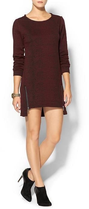 The Zipper-Embellished Sweater Dress