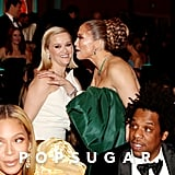 Beyoncé, Reese Witherspoon, Jennifer Lopez, and JAY-Z at the 2020 Golden Globes