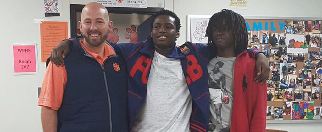 The Sweet Story Behind This Principal Matching Jeans With His Students