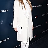 Jessica Alba embraced Tommy Hilfiger's polished-prep vibe in a crisp, white, head-to-toe look from the designer at the opening of the brand's West Coast flagship store.
