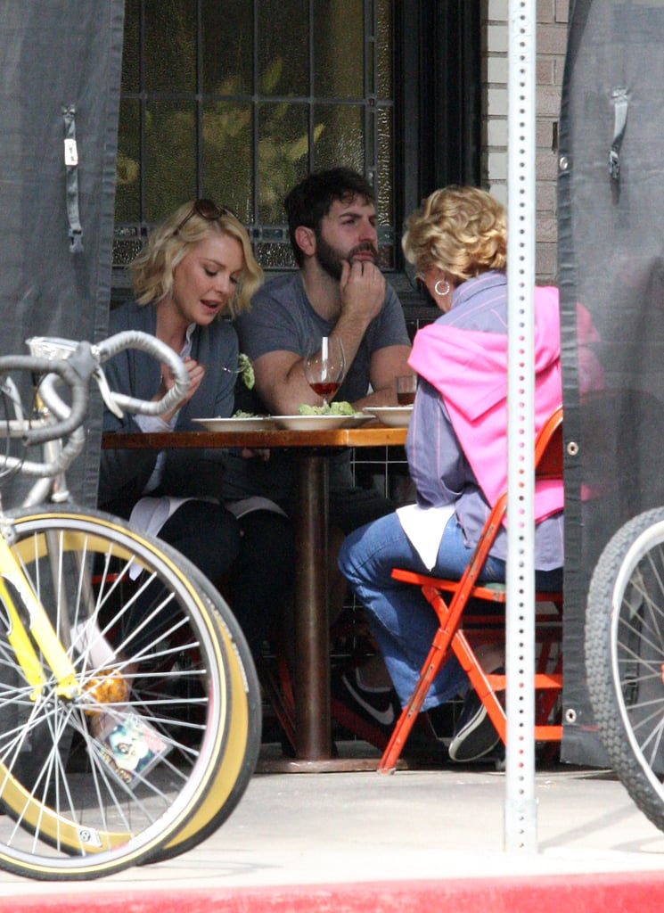 Katherine Heigl grabbed a meal at Little Dom's in LA.