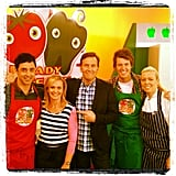 MasterChef's Andy Allen and Ben Milbourne taped an episode of Ready, Steady, Cook. Source: Instagram user bennymil