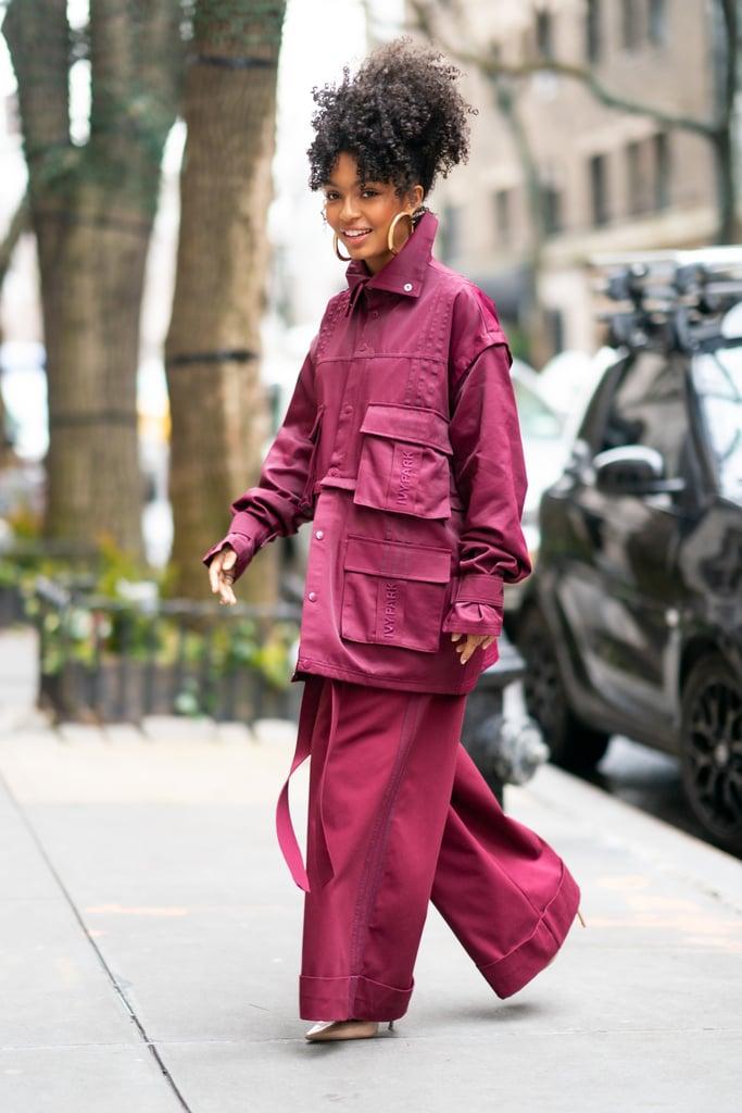 Yara Shahidi Wearing Beyonce S Ivy Park X Adidas Tracksuit