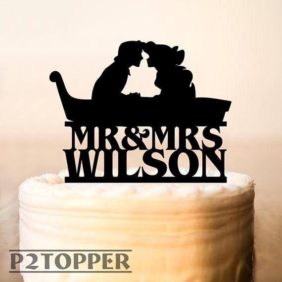 Ariel and Prince Eric Cake Topper ($14) | Disney Wedding Cake ...