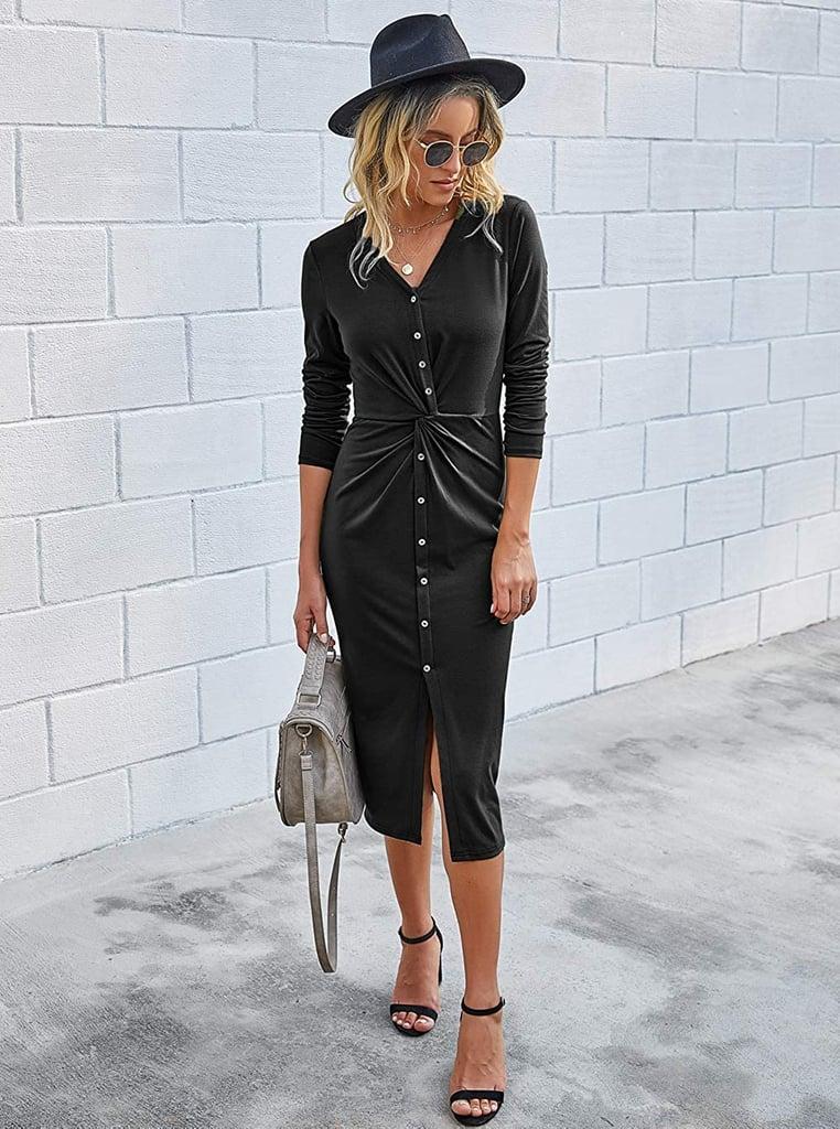 A Flattering Midi Dress