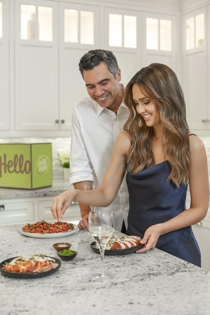 Jessica Alba and Cash Warren With HelloFresh's Date Night Box