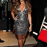 Demi Lovato shimmered in a gray dress.